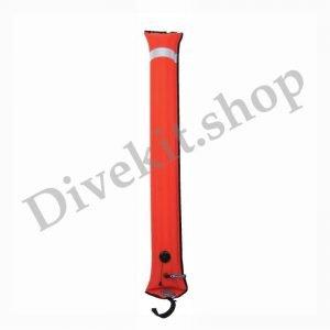 Big Diver's Alert Marker, 4.5' (1.4 m) long, closed circuit, orange