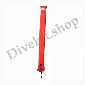 Super Big Diver's Alert Marker, 6' (1.8 m) long, closed circuit, orange
