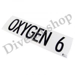 GUE MOD Decal each Oxygen 6
